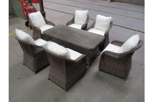 #HBM 1770: 6x Stuhl Stavanger + Tisch Pandora 160x80