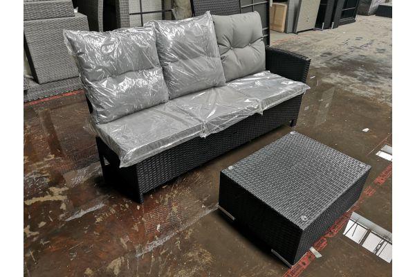 #HBM 649 3er Sofa Bermeo + Tisch