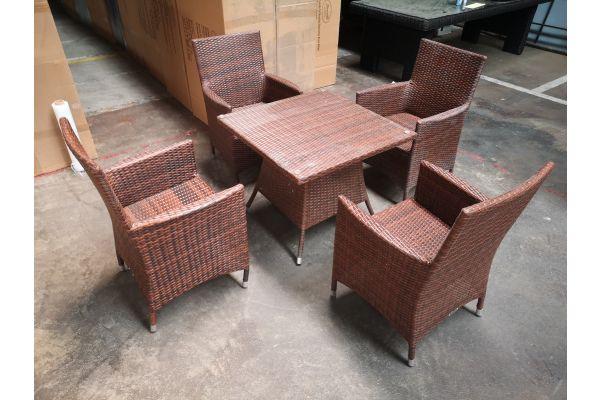#G 1293: 4er Set Stuhl Julia mit Tisch Sierra