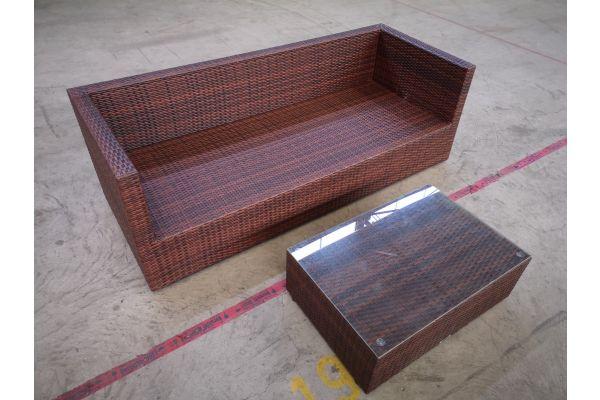#HBM 1384: 3er Sofa Liberi mit Tisch Paradiso