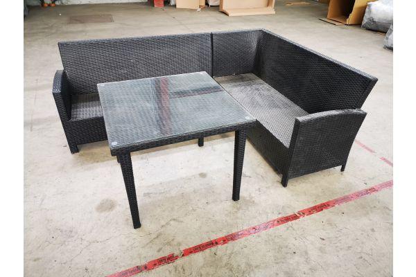 #HBM 1399: Sitzgruppe Bermeo mit Tisch Bari 90x90 cm
