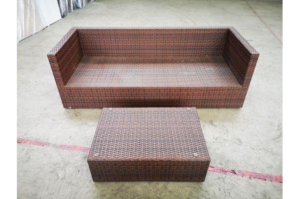 #HBM 1400: 3er Sofa Liberi mit Tisch 82x56x27 cm