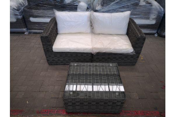 #HBM 1434: 2er Sofa mit Tisch Marbella 5mm