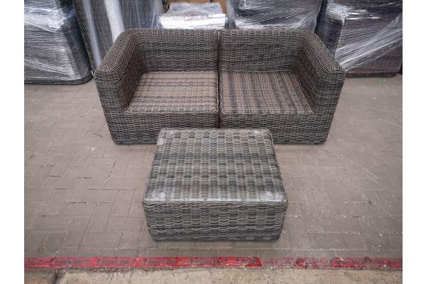 #HBM 1437: 2er Sofa mit Tisch Marbella 5mm