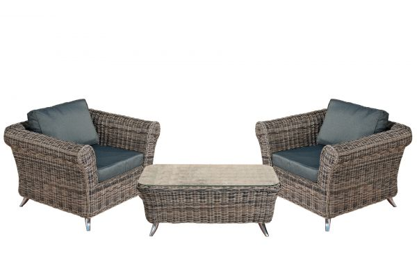 #M 2er Set Sessel mit Tisch Vivari