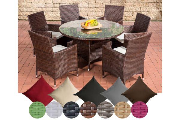 Typ 2 - Runde Sitzgruppe - Flachrattan
