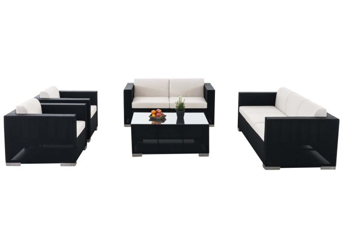 polyrattan.at Garnitur Brac XL Lounge-Set aus Stoff - Lounge-sets ...